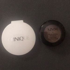 Clinique and nyx eyeshadow